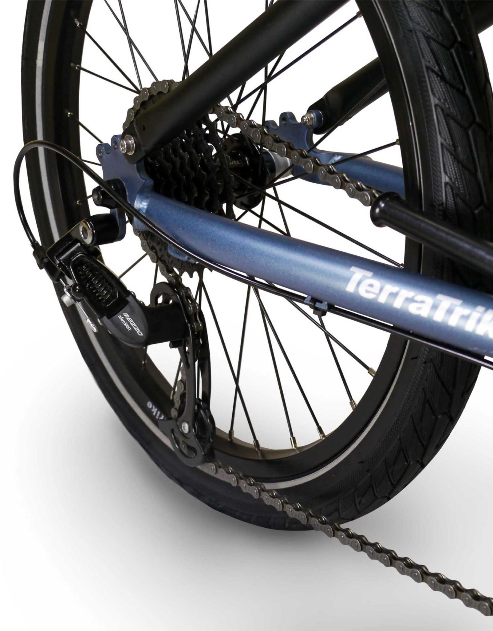 2021 TerraTrike Maverick i3 Recumbant Trike, Steel Blue