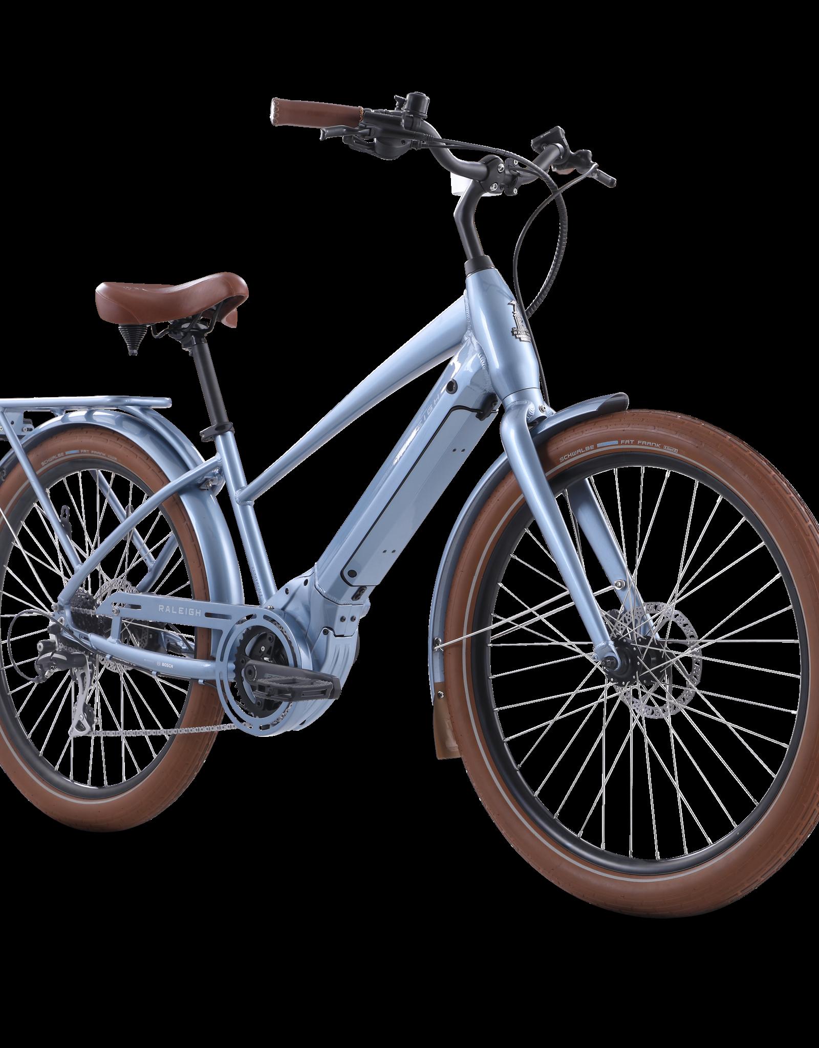 Raleigh Retroglide Royale IE Aluminum Electric Bike, E-Bike, Light Blue