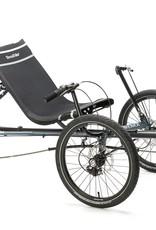 2021 TerraTrike Maverick Recumbant Trike, 8 speed, Steel Blue