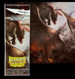 Dragon Shields Dragon Shield 100ct Perfect Fit Sealable Smoke