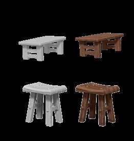 WizKids WizKids Unpainted W4 Wooden Table & Stools (retired)