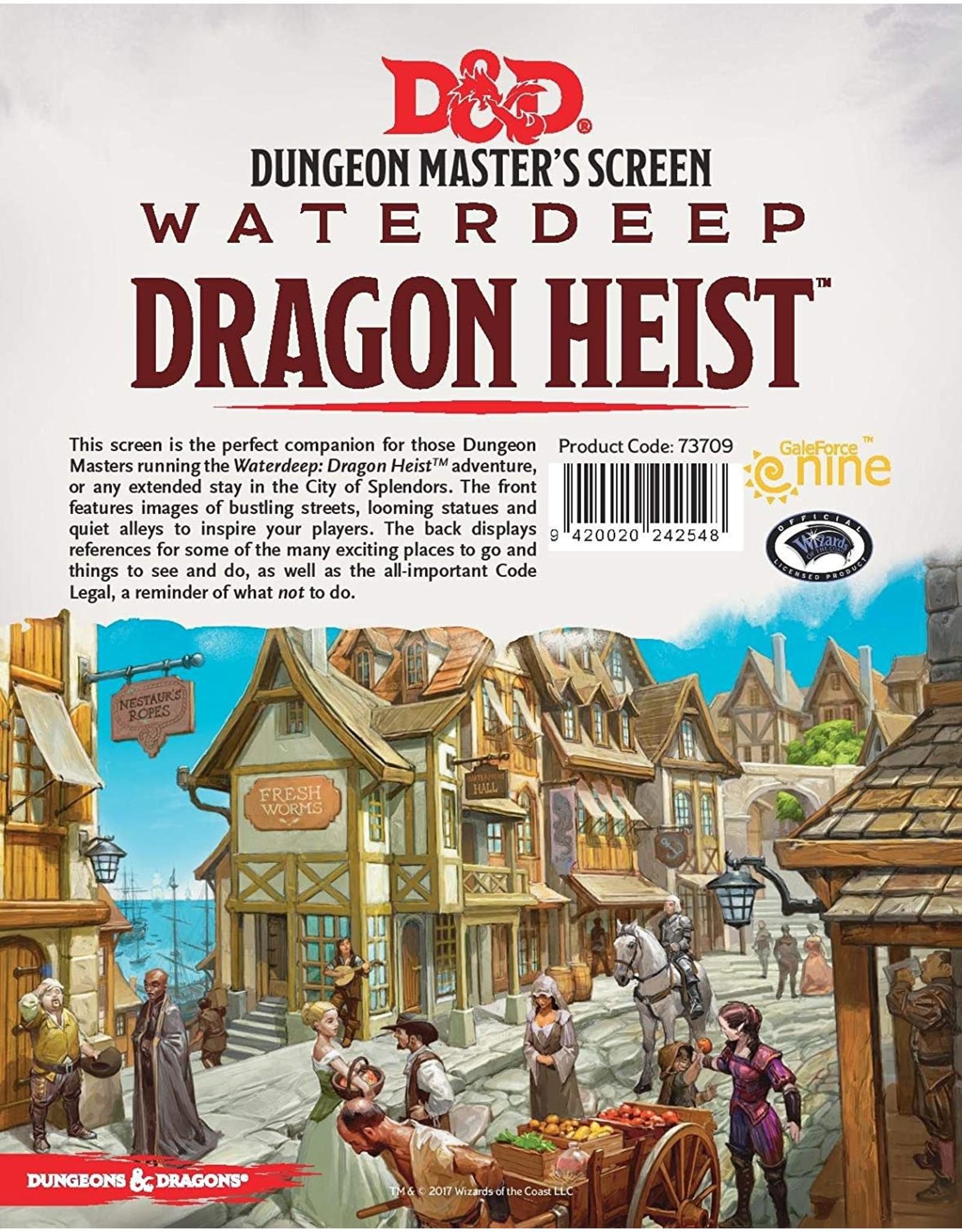DnD D&D 5th Dragon Heist DM Screen