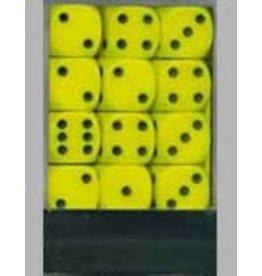 Chessex Opaque 12mm Set Yellow/Black (36)