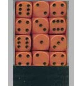 Chessex Opaque 12mm Set Orange/Black (36)