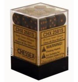 Chessex Opaque 12mm DustyG/Gd (36)