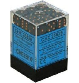 Chessex Opaque 12mm DustyBlue/Copper (36)