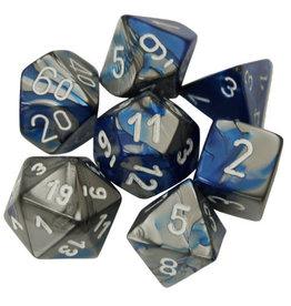 Chessex Gemini 7-Die Blue/Steel (7)