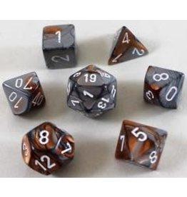 Chessex Gemini 7-Die Copper/Steel (7)
