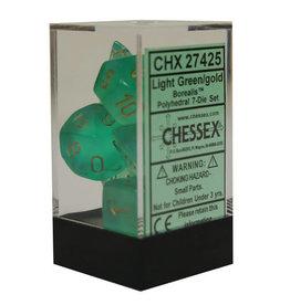 Chessex Borealis 2 Light Green/Gold (7)