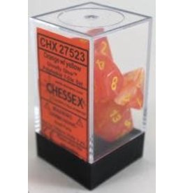 Chessex Ghostly Glow Orange/Yellow (7) *disc 0421
