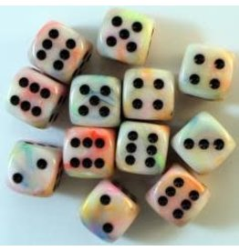 Chessex Festive 16mm D6 Poly Circus/Black (12)