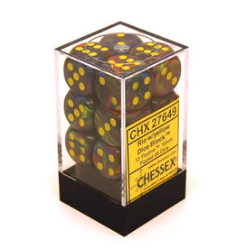 Chessex Festive 16mm D6 Rio/Yel (12) *disc 0421