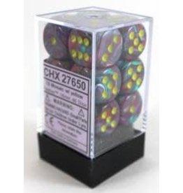 Chessex Festive 16mm D6 Mosaic/Yel (12)