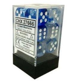 Chessex Nebula 16mm D6 DkBu/Wh (12)