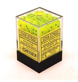 Chessex Vortex 12mm d6 Electric Yellow/green (36) *disc 0421