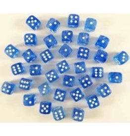 Chessex Borealis 12mm d6 Sky Blue/white (36) *disc 0421