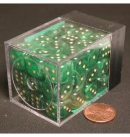 Chessex Vortex 12mm d6 Green/gold (36)