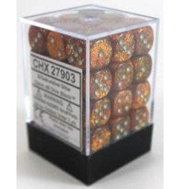 Chessex Glitter 12mm d6 Gold/silver Dice Block