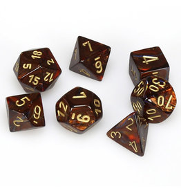 Chessex Scarab Blue Blood w/Gold (7)