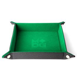 Dice Tray Velvet Folding Green