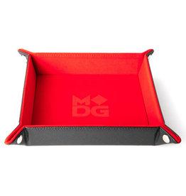 Dice Tray Velvet Folding Red