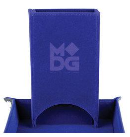 Fold Up Velvet Dice Tower - Blue
