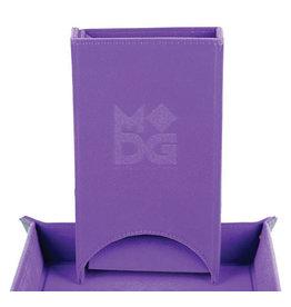 Fold Up Velvet Dice Tower - Purple