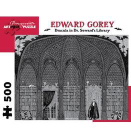 Gorey Dracula in Seward's Library 500-Piece Jigsaw Puzzle