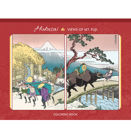 Hokusai One Hundred Views of Mt. Fuji Coloring Book