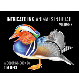 Intricate Ink Animals in Detail Volume 2 Coloring Book