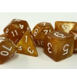 Gold Pearl Dice (7 Poly) (Boxed)