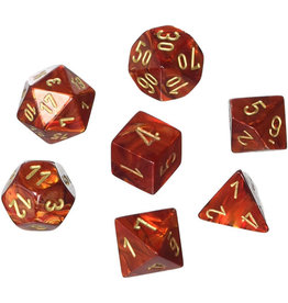 Chessex Scarab Scarlet w/Gold (7)