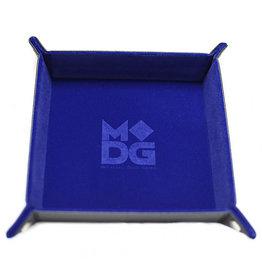 Dice Tray Velvet Folding Blue