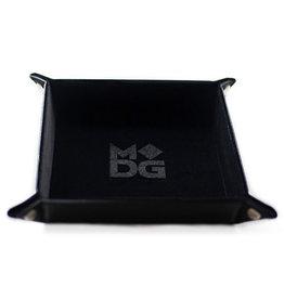 Dice Tray Velvet Folding Black