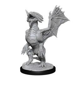 WizKids DnD Unpainted W13 Bronze Dragon Wyrmling & Pile of Sea found Treasure