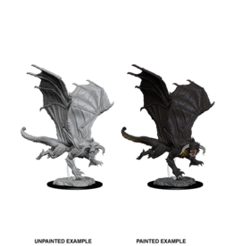 DnD Unpainted W8 Young Black Dragon