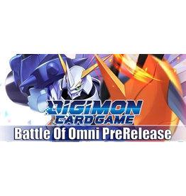 Digimon Digimon Battle of Omni Prerelease Fri 7pm
