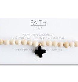 Lenny & Eva Faith Over Fear Bracelet Black Agate