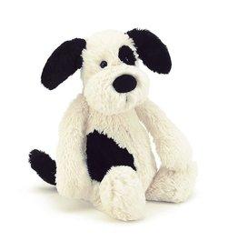 Jellycat Bashful Puppy Black & Cream Medium