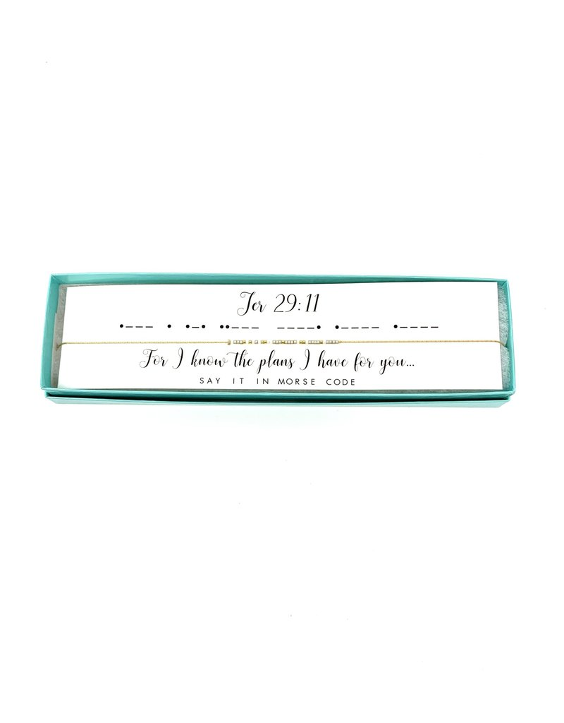Morse Code Necklace Jer 29:11