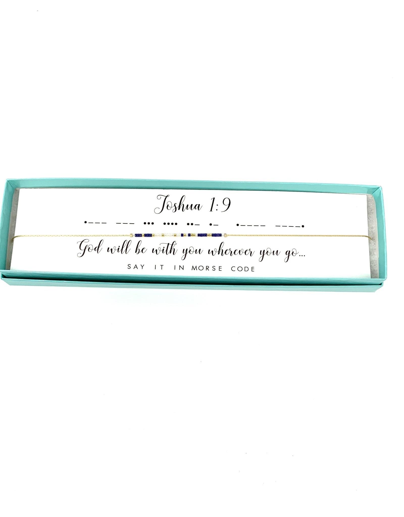 Morse Code Necklace Joshua 1:9
