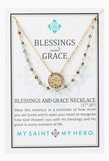 Blessings and Grace Necklace Gold