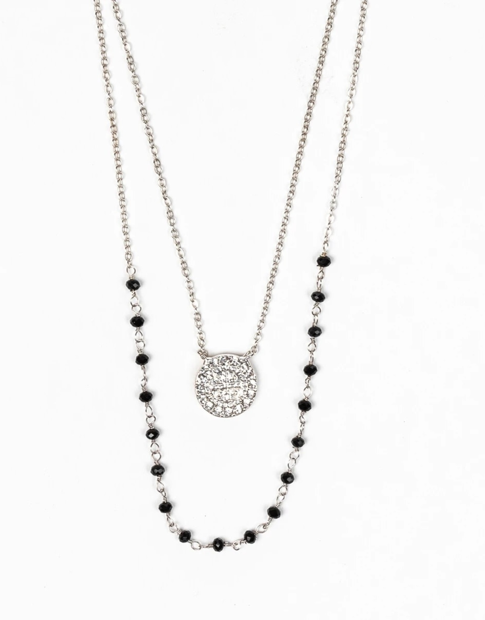 Blessings and Grace Necklace Silver
