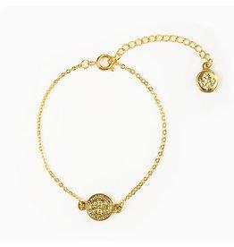 My Saint My Hero Breathe Chain Bracelet Gold