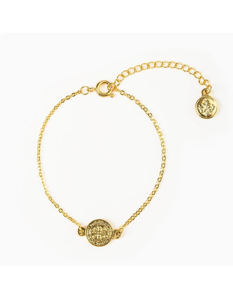My Saint My Hero Breathe Chain Bracelet Gold