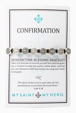 Confirmation Blessing Bracelet Silver/Black