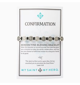 Confirmation Blessing Bracelet Silver/Black