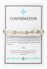 Confirmation Blessing Silver/Tan Bracelet