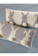 Hook Pillow Gray Triple Bunny