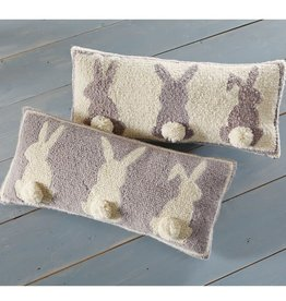 Hook Pillow Gray Triple Bunny